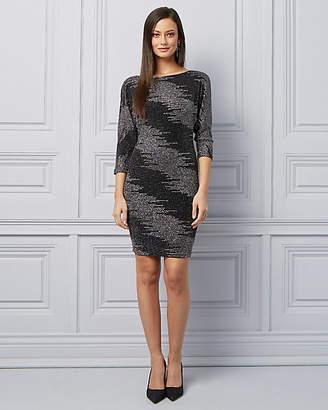 Le Château Sparkle Knit V-Back Cocktail Dress