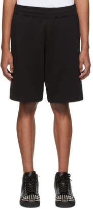 Moschino Black Logo Stripe Shorts