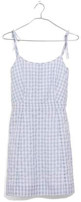 Madewell Tie Strap Gingham Dress