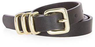 Topshop Triple Keeper Faux Leather Belt