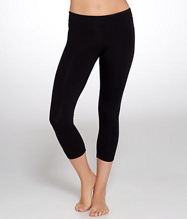 Calvin Klein Performance Side Shirred Cropped Leggings