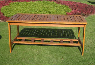 International Caravan Royal Tahiti Outdoor 2-Tier Patio Table