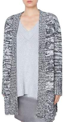 Akris Punto Long Chunky Melange Knit Cardigan