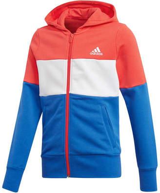 adidas Girls Sport ID Hoodie Red / Blue 12
