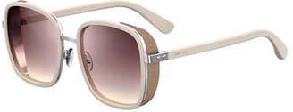 Jimmy Choo Elvas Mirrored Square Sunglasses