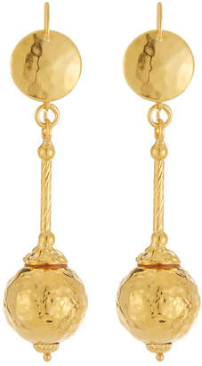Jose & Maria Barrera 24k Gold-Plated Hammered Ball Drop Earrings