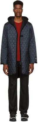 Y-3 Grey and Black Quilted Jacket