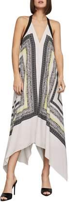 BCBGMAXAZRIA Printed Halter Shift Dress
