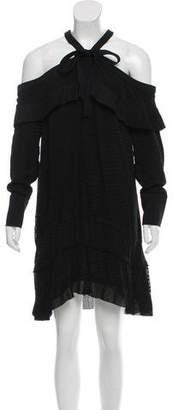 Proenza Schouler Cutout-Shoulder Jacquard Dress