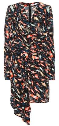 Givenchy Printed silk wrap dress