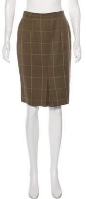 Christian Dior Plaid Knee-Length Skirt