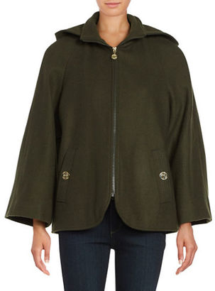 Betsey Johnson Wool Blend Cape Coat $240 thestylecure.com