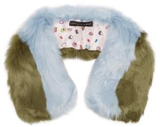 CHARLOTTE SIMONE Cuddle Cuff Faux Fur Scarf - Womens - Blue