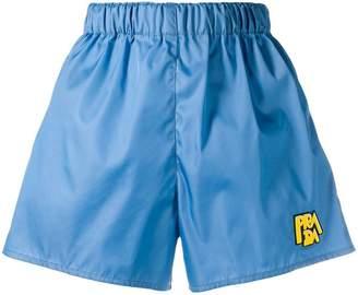 Prada logo-patch shorts