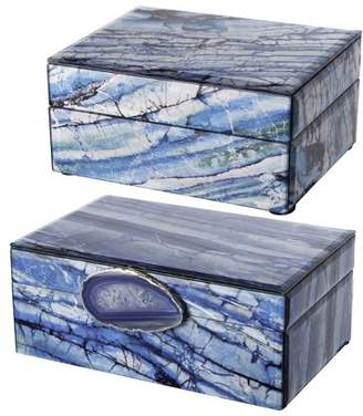 A&B Home Decorative Storage Jewelry Boxes, Set of 2