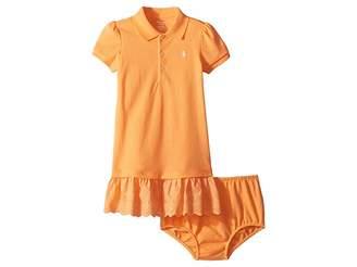 Ralph Lauren Eyelet Polo Dress Bloomer (Infant)
