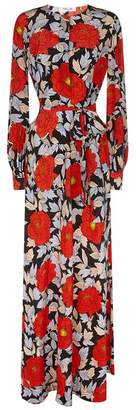Diane von Furstenberg Floral Waist-Tie Maxi Dress