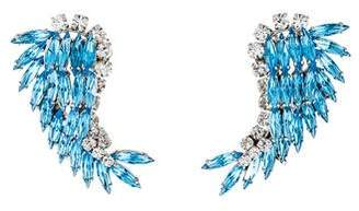 Crystal Paisley Clip-On Earrings