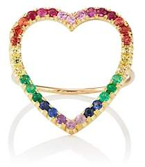 Jennifer Meyer Women's Rainbow Open Heart Ring