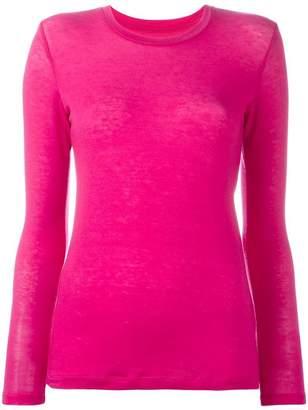 Issey Miyake round neck knit blouse