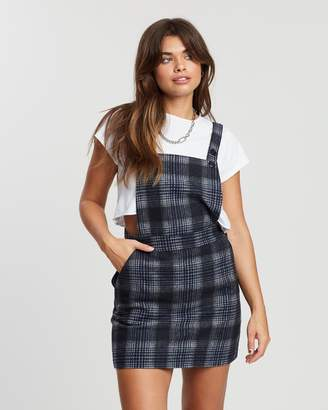 All About Eve Pitch Plaid Pinafore
