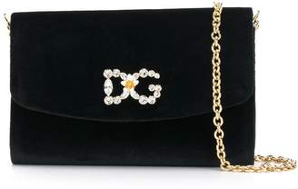 Dolce & Gabbana embellished logo crossbody bag