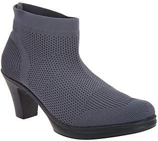 Bernie Mev. Stretch Knit Heeled Ankle Boots- Doll