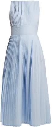 Goat Felisse pleated cotton-blend dress