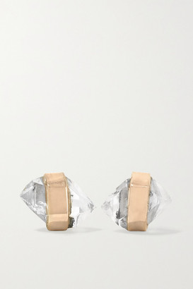 Melissa Joy Manning 14-karat Gold Herkimer Diamond Earrings - one size