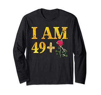 Floral 50th birthday Gift ideas For men and women Funny Long Sleeve T-Shirt