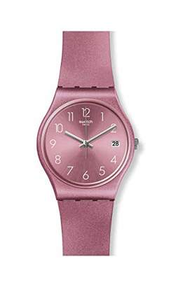 Swatch Womens Analogue Quartz Watch with Silicone Strap GP404