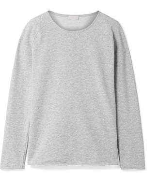 Hanro Pure Comfort Stretch Cotton-blend Jersey Sweater - Gray