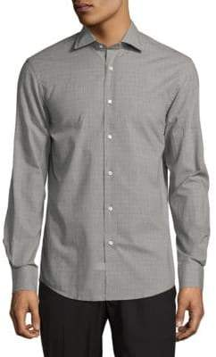 Ralph Lauren Purple Label Aston Long Fit Button-Down Shirt