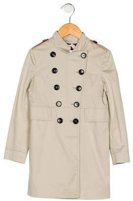 Burberry Girls' Double-Breasted Trench Coat