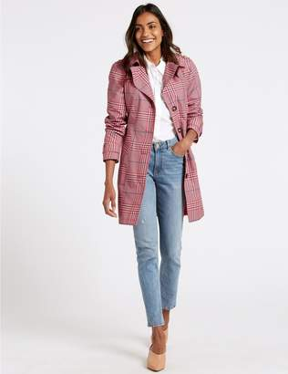 Marks and Spencer Checked Trench Coat with Stormwear