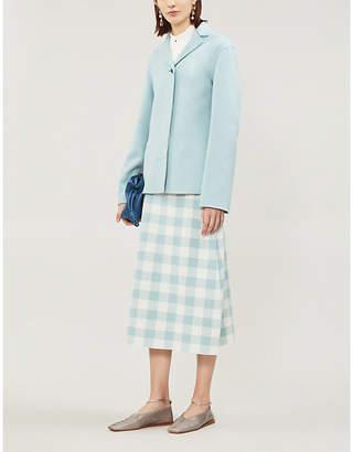 Jil Sander Underlay-detail cashmere and linen-blend jacket