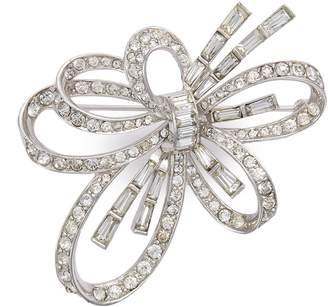 Loren Stazia Diamante cutout flower brooch
