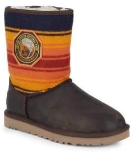 UGG Short Grand Canyon Wool Stripe Boots
