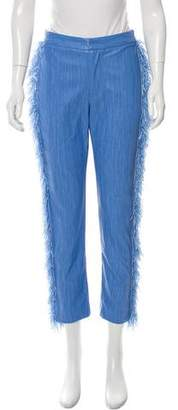 Opening Ceremony Fringe-Trimmed Tailored Pants
