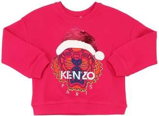 Kenzo Tiger Santa Sequined Cotton Sweatshirt
