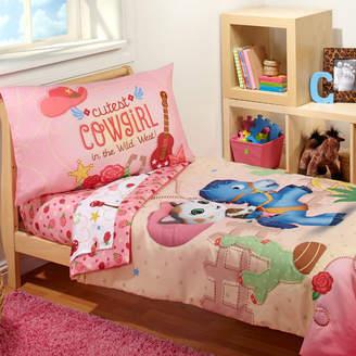 Crown Crafts Sheriff Callie - Cutest Cowgirl 4 Piece Toddler Bedding Set