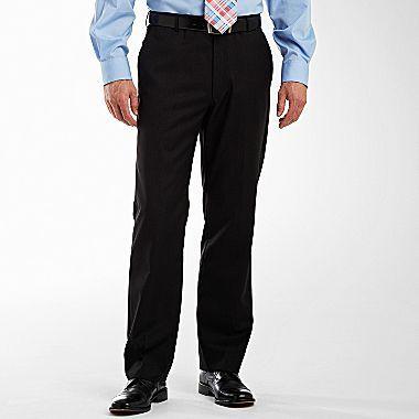 Claiborne Flat-Front Wool Dress Pants