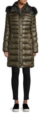Andrew Marc Fur Trimmed Down Jacket