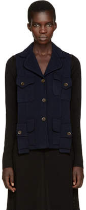 Maison Margiela Navy Backless Army Vest