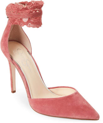 Jessica Simpson Rose Portalynn Lace Ankle Strap Pumps