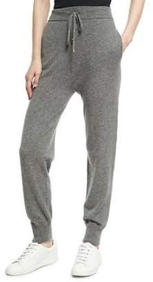 Agnona Cashmere High-Waist Jogger Pants
