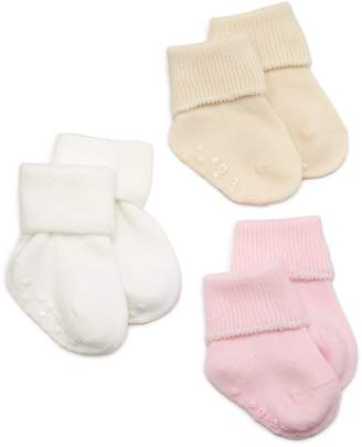 Jefferies Socks Organic Cotton Turn Cuff Sock, 3 Pack