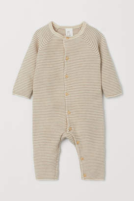 H&M Fine-knit Overall - Beige