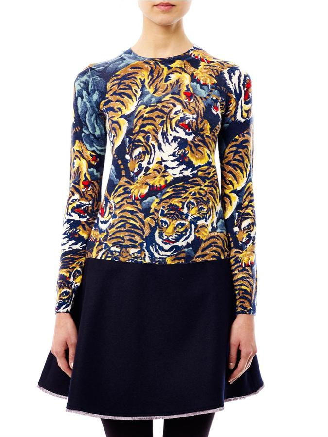Kenzo Flying tiger-print sweater