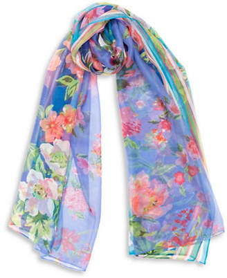 Collection 18 Floral Stripe Scarf